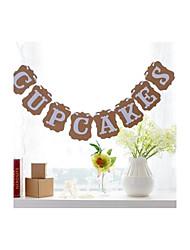 Vintage Wedding Engagement Party Shower Banner Cupcake Cake Decoration Garlands