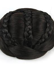 verworrene lockige schwarze Braut weben menschliches Haar capless Perücken Chignons 2/33