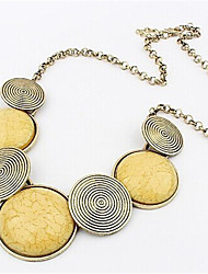 Necklace Pendant Necklaces Jewelry Wedding / Party / Daily / Casual Alloy / Resin Gold 1pc Gift