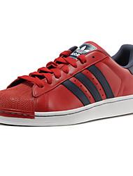 Scarpe da uomo-Sneakers alla moda-Sportivo-Di pelle-Bianco / Borgogna / Nero e oro / Nero e rosso