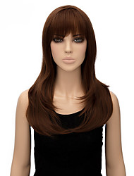 Women Long Straight Brown Color Top Quality Synthetic Wig