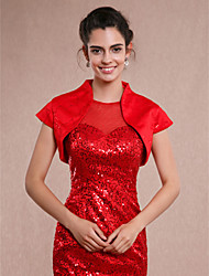 Women's Wrap Shrugs Sleeveless Sequined Ivory Red Wedding Party/Evening Casual Sequin Open Front