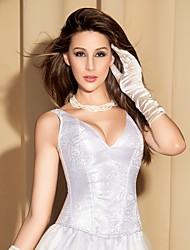 YUIYE® Women Sexy Lingerie Waist Training Corset Bustier Tops Shapewear White Floral Overbust Corset Wedding Dress 2XL