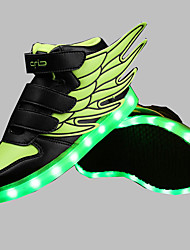 Boys' Shoes Outdoor / Athletic / Casual Synthetic Fashion Sneakers Blue / Green / White / Coral LED shoes