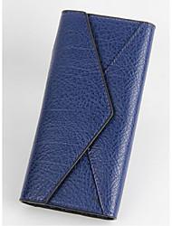 Women PU Professioanl Use Wallet Blue / Yellow / Gold / Red / Gray / Black / Fuchsia