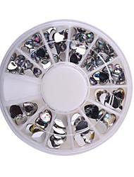 moda feminina 3d decorações da arte do prego do projeto do coração Amor DIY brilho strass roda de unhas