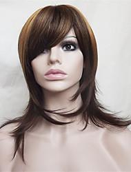 Европа и Соединенные Штаты продают каштановые волосы естественным прямой парик 16 дюймов