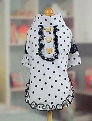 Dog Shirt / T-Shirt Dress White Dog Clothes Summer Spring/Fall Polka Dots Fashion