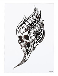 8PCS Skull Dragon Swallow Bird Tattoo Temporary Women Men Flower Arm Body Art Design Tattoo Sticker Bar Party New