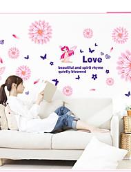 Botanique / Romance / Nature morte / Mode / Floral / Loisir Stickers muraux Stickers avion,PVC 60*45*0.1