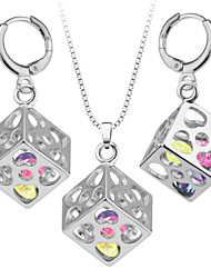 Unique Cube Pendant Trendy Platinum/18K Gold Plated Unisex Jewelry New Resizable Chain Pendant Necklace S20099