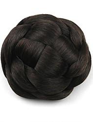 verworrene lockige schwarze europa Braut menschliches Haar capless Perücken Chignons g660205 2/33