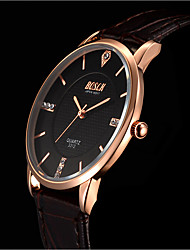 Han Edition Simulation Belt Rose Gold Ultra-Thin Waterproof Sells Men's Fashion Watches