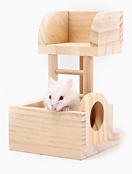 Hamster toys observatory Small pet supplies Natural lumber Cage villa accessories