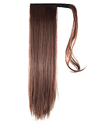 Length Red Wine Wig Ponytail 60CM Synthetic Straight High Temperature Wire Color 33