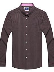 Men's Long Sleeve Shirt,Cotton Casual / Work /STRIPE