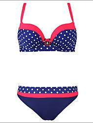Bikini Da donna Push up Push up / Regolabile All'americana Cotone / Poliestere