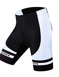 WOSAWE Cuissard Rembourré de Cyclisme Femme Unisexe Vélo Cuissard  / Short Shorts Rembourrés BasRespirable Séchage rapide Limite les