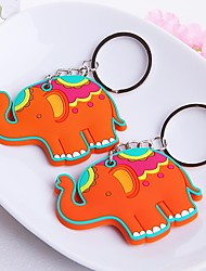 Lucky in Love Elephant Rubber Key Chain Beter Gifts® Baby Birthday Souvenirs
