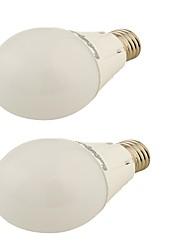 5W E26/E27 Ampoules Globe LED G45 24 SMD 2835 450 lm Blanc Chaud Décorative AC 100-240 / AC 110-130 V 2 pièces