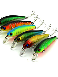 8.5cm 8.9g/Pcs Fishing Lures Artificial Baits Tackle 3D Fish Eyes with Hooks Fishing Accessory 6 Pcs/Set