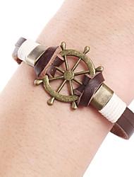 Punk Rudder Steering Wheel Leather Rope Leather Bracelet