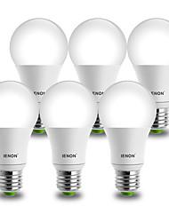 9W E26/E27 Lâmpada Redonda LED A60(A19) 1 COB 850-900 lm Branco Frio Decorativa AC 100-240 V 6 pçs