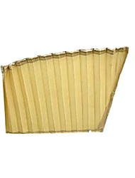 Beige Louvers Silk Auto Curtains Sun Protector