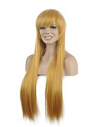 parti perruques synthétiques de populaire droit blond couleur femme