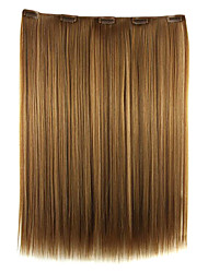 Wig Golden Brown 52CM High Temperature Wire Length Straight Hair Synthetic Hair Extension