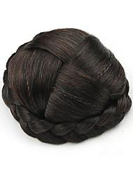 Kinky фигурные коричневый европы маленький человеческих волос монолитным парики шиньоны 2/33