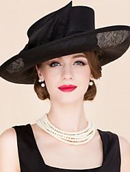 Women's Flax / Fabric Headpiece-Wedding / Special Occasion / Casual Fascinators / Hats 1 Piece