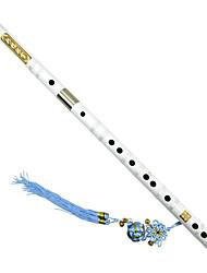 insérer deux paires de laiton blanche amère flûte de bambou en bambou peinture blanche