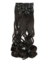 Length Black 60CM High Temperature Wire Wig Hair Extension Synthetic Hair