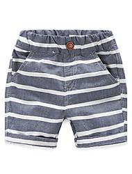 Children's Summer Shorts Cotton Underwear Shorts Boy And Girls Stripes Short Pants