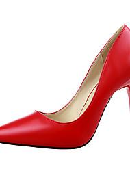 Women's Shoes PU Wedge Heel Heels / Pointed Toe Heels Outdoor / Office & Career / Party & EveningBlack / Yellow / Pink
