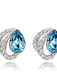 Thousands of colors  Stud Earrings Women's Alloy Earring Crystal-2-228