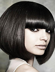 Popular Wigs Black Color Heat Resistant Hair Synthetic Wigs
