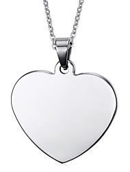 Women's Fashion Heart Shape Steel Pendant for Necklace