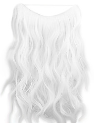 Wig White 45CM Synthetic High Temperature Wire Curly Hair Piece Color 1001