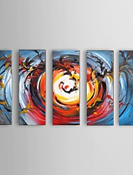 Hand-painted Abstract Phoenix Oil Painting Restaurant 5 Piece/Set Wall Art Decor with Stretched Frame