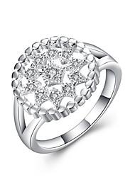 Anéis Fashion Casamento / Pesta / Diário / Casual Jóias Feminino Anéis Statement 1pç,7 / 8 Prateado / Branco