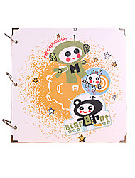 DIY 29*29 cm 16inch Handmade Scrapbook Photo Album 30pcs Black Paper - Cartoon for Family/Baby/Lovers/Gifts/Wedding