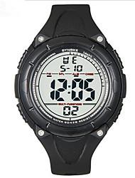 SYNOKE Pánské Sportovní hodinky Náramkové hodinky Digitální LCD Kalendář Chronograf Voděodolné poplach Svítící Pryž Kapela Černá