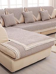 хлопок / лен старый грубый скольжению суперобложка моды четыре сезона ткани дивана подушки грациозно цвета кофе