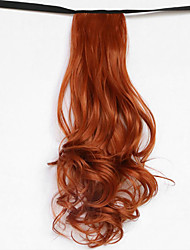 Water Wave Red Blonde Synthetic Bandage Type Hair Wig Ponytail(Color 119)