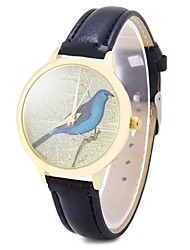 Fashion Bird Watch Women Wristwatch Casual Luxury Quartz Watches with Vintage Leather Band Cool Watches Unique Watches
