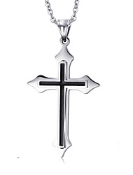 Men's Pendant Necklaces Pendants Titanium Steel Cross Cross Fashion Silver Jewelry Daily Casual 1pc
