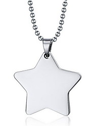 Women's Pendant Necklaces Pendants Titanium Steel Star Fashion Silver Jewelry Daily Casual 1pc