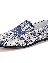 Men's Loafers & Slip-Ons Summer Comfort Denim Casual Flat Heel Black Orange Blue